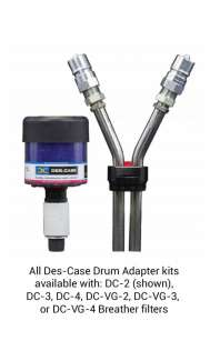 Drum Adapter ISO B NPT, 3/4inch Drain, 1/2inch Fill, No Smpl Valve, DC-VG-2 Breather, Blue