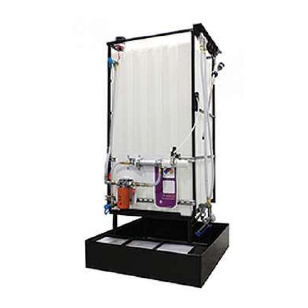 1 X 220 Gallon (870 L) Poly Container System with Hydraulic hoses with upgraded dispensing handle