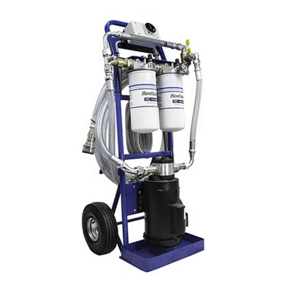 FlowGuard Filter Cart - 2 gpm pump  1 hp electric motor 115 vac, 60 hz,1725 rpms,13 amps