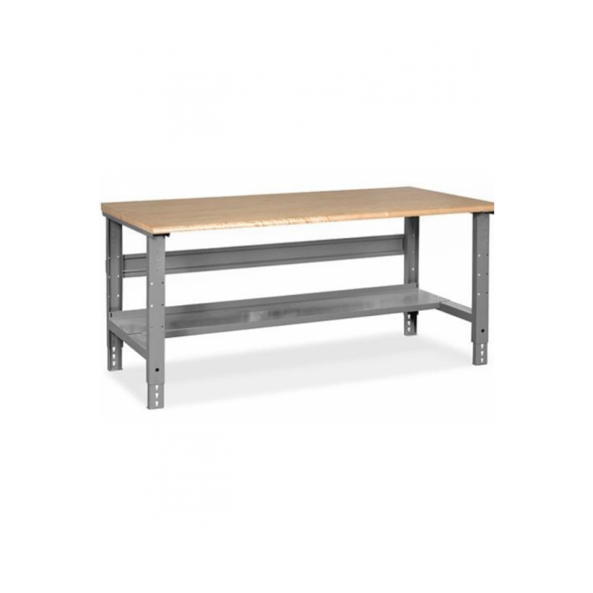 """Industrial Packing Table - 60 x 36"""", Maple Top with Rounded Edge"""