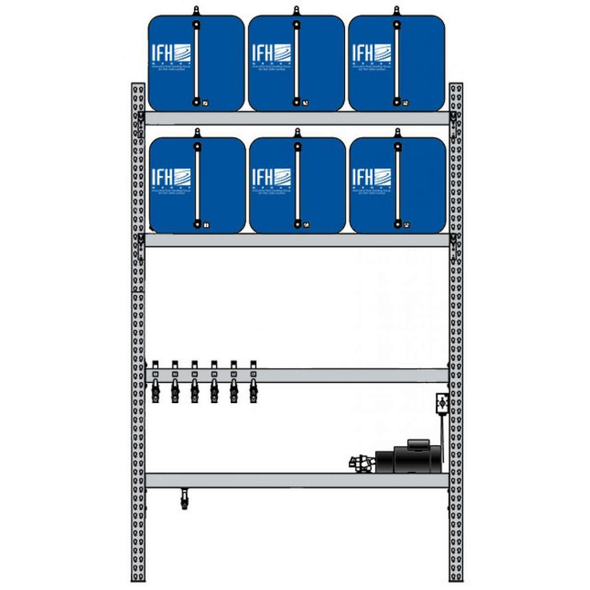 6 container system (2X3)