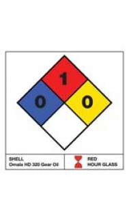 "NFPA Label - 3.25"" x 3.25"" - Water Resistant Paper  (1 sheet of 6 labels)"