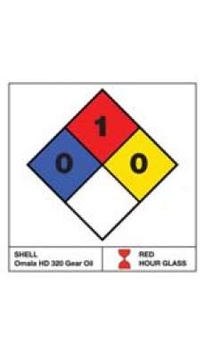 "NFPA Label - 3.25"" x 3.25"" - Adhesive Labels (1 sheet of 6 labels)"