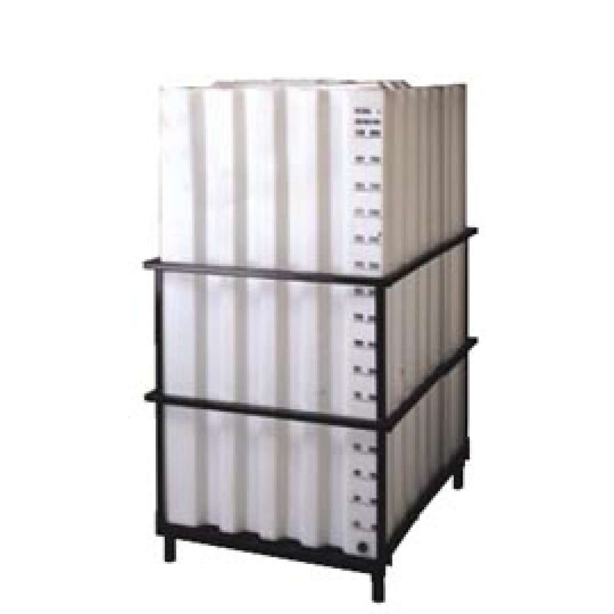 Cubet 230 gallon 870 l poly container with frame for Frame storage system